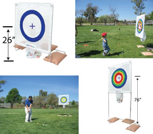Sports, Outdoors, Backyard Games and Multiple Sports Training, Accuracy & Proficiency Training Net Target Stand, Perfect-o-play, Sports N Party Fun, Waddlers Brand by Waddlers