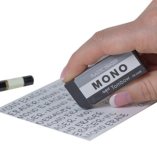 Tombow 57330 MONO Black Eraser, Medium, 3-Pack. Cleanly Removes Marks Without Damaging Paper by Tombow (Image #1)