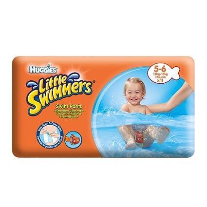 Pañales Huggies nadadores de natación litttle 5-6 meses (12 - 18 Kilo)