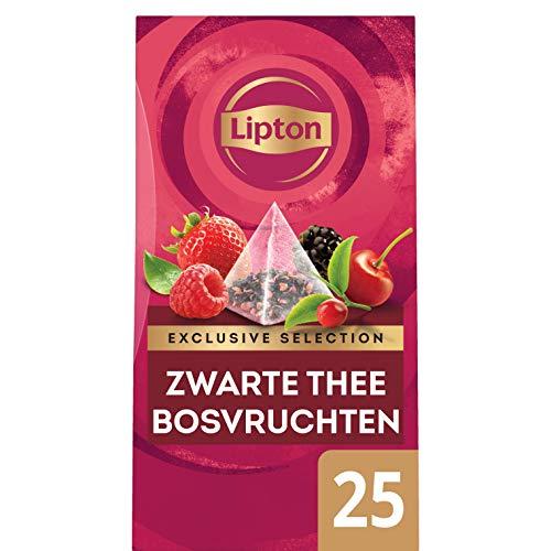 Lipton Seleccion Exclusiva Te Negro Frutos del Bosque, Caja con 25 sobres