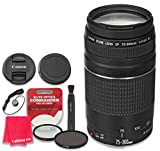 Canon EF 75–300mm f/4–5.6 III Lens with Elite Optics Commander Pro Series HD UV Filter & Circular Polarizer - International Version (No Warranty)