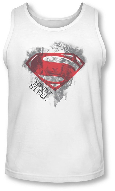 Man Of Steel - Mens Face & Logo Tank-Top