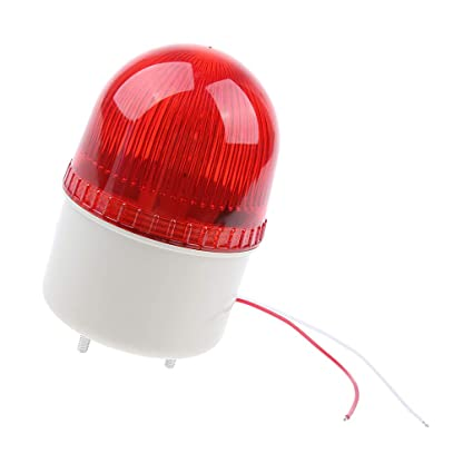 Phenovo Warning Strobe LED Beacon Alarm Light Signal Tower Lamp with Alarm Sound & Water Proof AC220V - Easy to Install