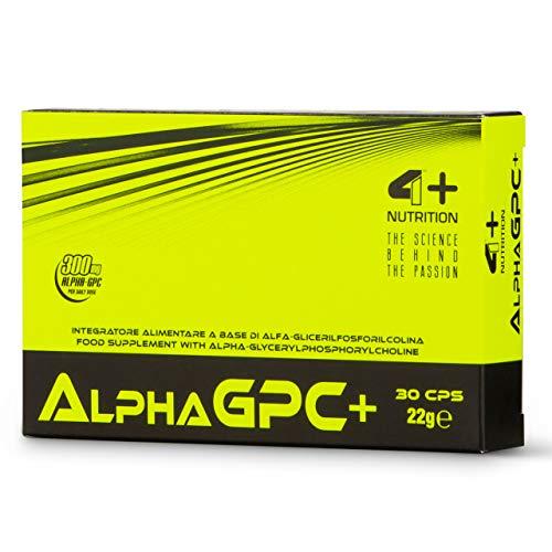 4 Sport Nutrition Alpha GPC+ 1er pack x 30 Kapseln Alpha Glycerylphosphorylcholin Cholin