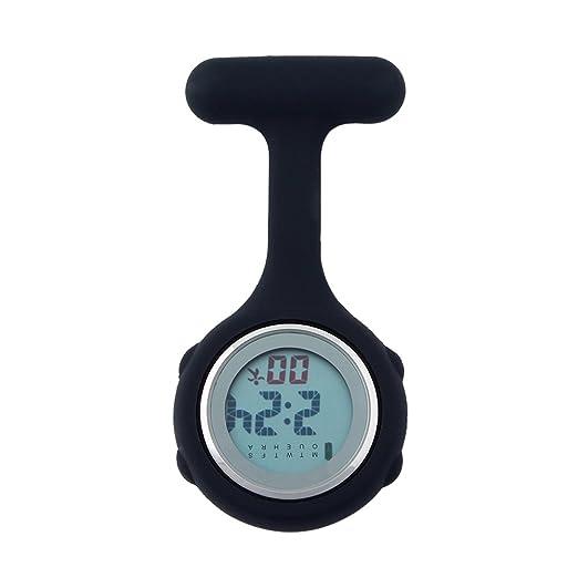 Negro Enfermera Reloj multifunción Digital Silicona 2018 Bolsillos Relojes: Amazon.es: Relojes