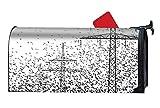 Una Stowe Garden Bright Birds Power Line Black White Magnetic Mailbox Wrap for Standard Size 9 × 21''