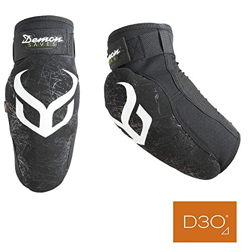 Demon United Hyper X D3O Elbow Pads- Mountain Bike Elbow Pads w/ D30 Impact Technology (Med) (Best Mountain Bike Elbow Pads)