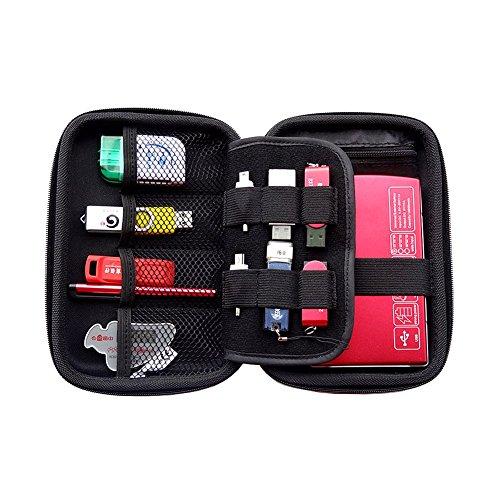 Elvam EVA Shockproof Waterproof Portable Hard Drive Case Bag / Cable Case Bag / USB Flash Drive Case Bag / Power Bank Case Bag / GPS Case and Digital Camera Case - Blue by Elvam (Image #2)