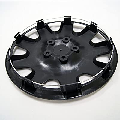 TuningPros WSC3-032B15 4pcs Set Snap-On Type (Pop-On) 15-Inches Matte Black Hubcaps Wheel Cover: Automotive