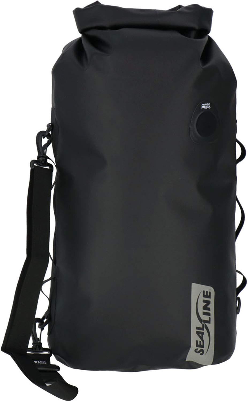 SealLine Discovery Deck Waterproof Dry Bag with PurgeAir, Black, 30-Liter