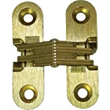 SOSS Invisible Hinge 1 1/2'' Light Duty (Pair) Satin Brass 180 Degrees
