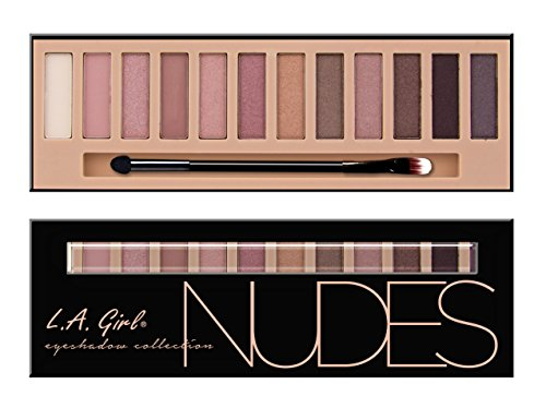 Palette Makeup Palette (L.A. Girl Beauty Brick Eyeshadow, Nudes, 0.42 Ounce)