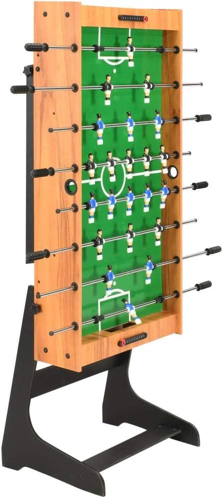 Festnight Juego de Mesa de Fútbol Futbolin Plegable Futbolín Plegable Color Marrón Claro y Negro 121 x 61 x 80 cm: Amazon.es: Hogar