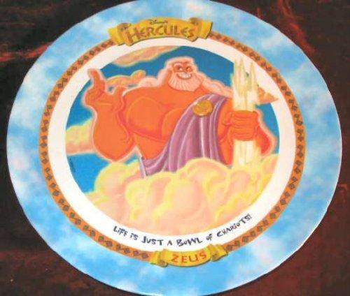 1997 Disneys Hercules Zeus Plastic Plate McDonalds
