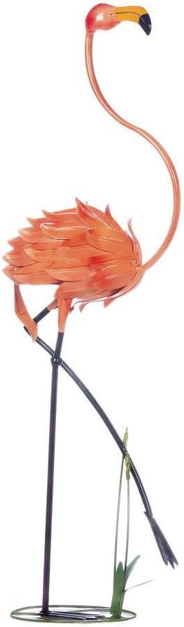 Zings & Thingz 57074041 STATUESQUE Flamingo Garden Decor, Pink