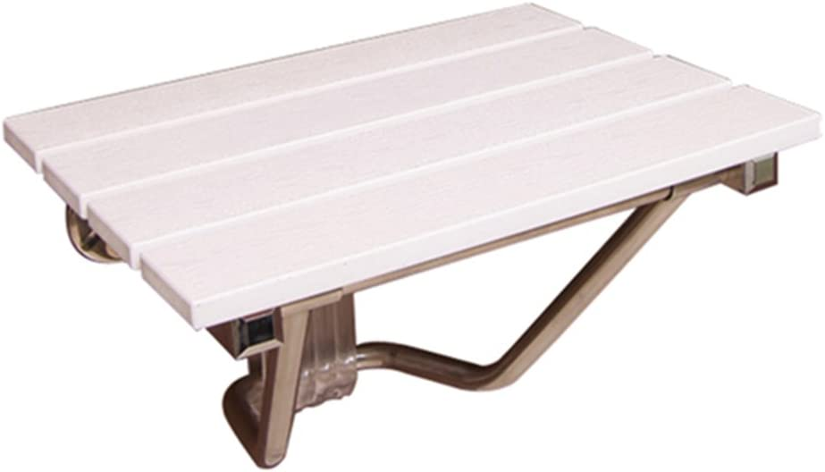 B07K3T4WF9 JHome-Bathing Stool Foldable Shower/Bath Stools Wall Mounted Wooden Shower Seat Stool Folding Wood Change Shoes Stool for Elderly/Disabled Anti-Slip Heavy Duty Shower Seat Stool in White Max. 160kg 51zVjJe6DNL.SL1024_