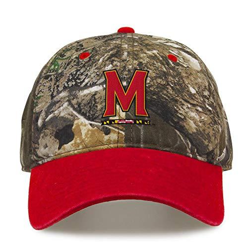 University of Maryland Terps Camo Hat Realtree Edge Camo Two-Tone Cap (Maryland Camo Hat)