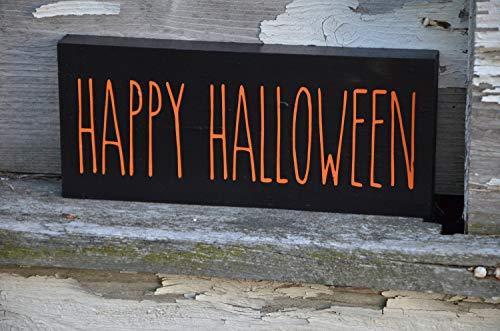 DASON Happy Halloween Wood Block Sign