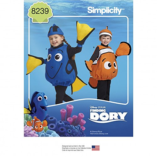 Simplicity Childrens Sewing Pattern 8239 Disney Finding