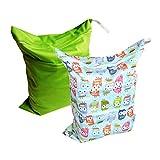 Alva baby Baby 2pcs Pack Wet and Dry Cloth Diaper Bags L0125-CA