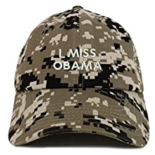 be5fa4763 Trendy Apparel Shop I Miss Obama Embroidered Brushed Cotton Dad Hat Cap