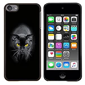 - EYES PANTHER BLACK YELLOW CAT SIAMESE - Caja del telšŠfono delgado Guardia Armor- For Apple iPod Touch 6 6th Generation Devil Case