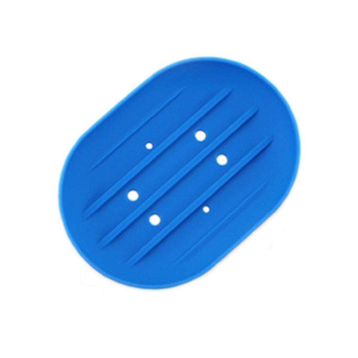 BLxi - Jabonera de Silicona para jabón (Azul)