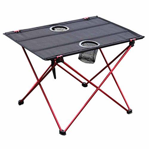Mesa plegable de picnic para camping, portatil, compacta, ligera, plegable, en una bolsa, pequena, ligera y facil de transportar para camping, playa, al aire libre