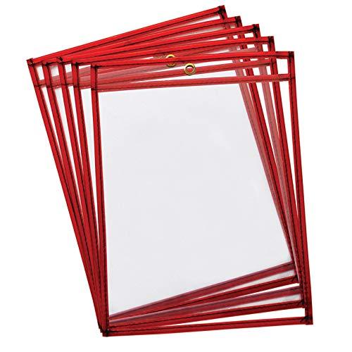 Creativity Street Mind Sparks Dry Erase Pockets (10 Piece), Fluorescent Red, 9 x 12 for $<!--$17.69-->