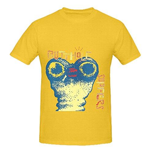 Butthole Surfers Independent Worm Saloon Tracks Men Crew Neck Design Shirts (Slim Jim Guy)