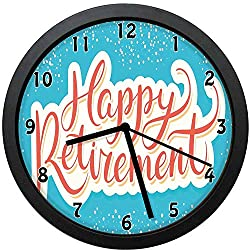 YiiHaanBuy New York Decorative Wall Clock,Manhattan Bridge with Night Lights Over Hudson River Brooklyn Popular Town-Office,Bedroom,Kitchen,Bathroom,Silent Battery Quartz Wall clock-10 inch