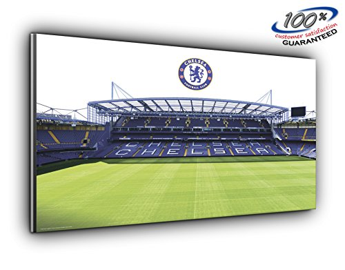 Chelsea FC Stamford Bridge Stadium Panoramic Canvas Print Picture 50 inch x 20 inch Over 4 Foot Wide x 1.5 Foot high Ready to Hang Stunning Quality