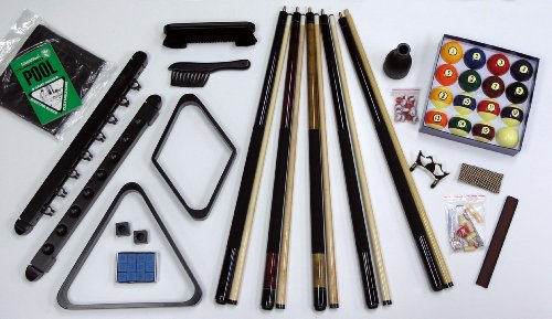 Fairview Game Rooms Premier 32-Piece Pool Table Accessory Kit (Black)