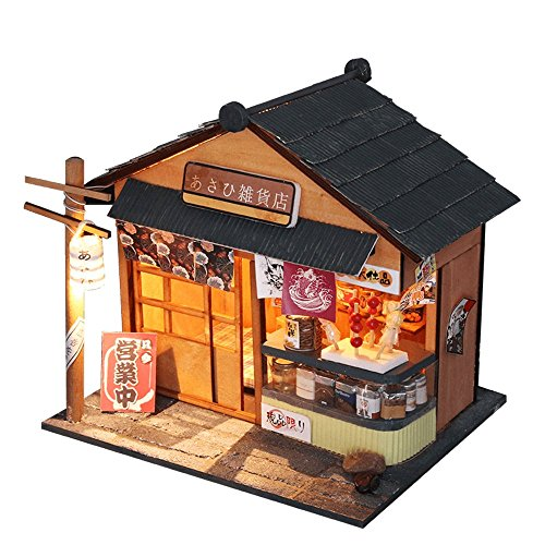 Flever Dollhouse Miniature DIY House Kit Creative Room With Furniture for Romantic Valentine's Gift(Chao Yang Grocery Store)