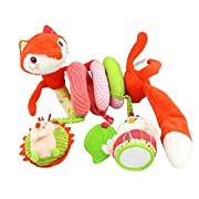 Stroller Toy Fox Bed Hanging Toys, Spiral Activity Toy Swings,Baby Seat Handles,Shopping Cart Fandles,Stroller,etc Spiral Hanging Toys for 3 Months Up