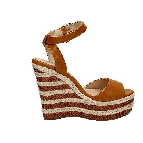 Marron 8670 cuir 43 Sandale Braccialini Femme IFpqSg