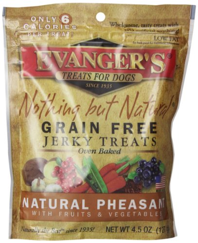 EVANGER'S Nothing But Natural Pheasant Dog Treats, 4.5-Ounce