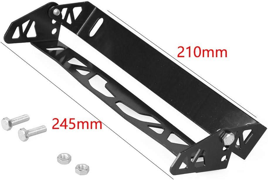 black Ganquer License Plate Bracket JDM Adapter Aluminum Alloy Universal Holder Adjustable