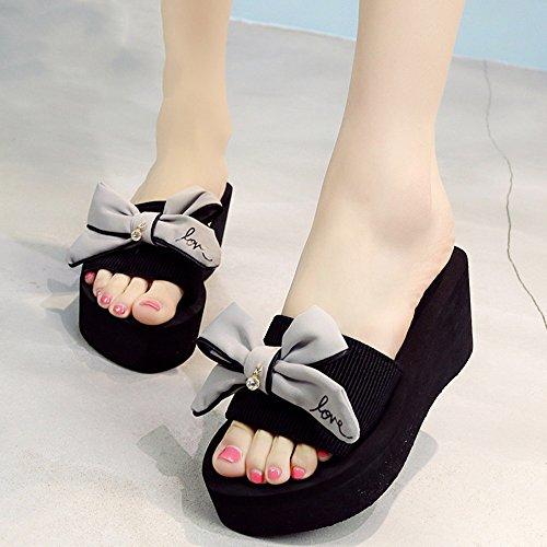 Strand HAIZHEN Schuhe Grau Farbe heeled 37 Frauen blau Sandalen rosa Für größe Frauenschuhe Grau Mode schwarz grau High r4x4w1YqX