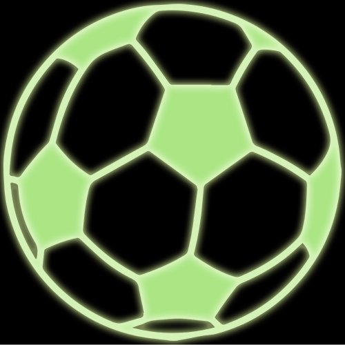 Soccer Ball Decal Sticker (glow in the dark, 5 inch)