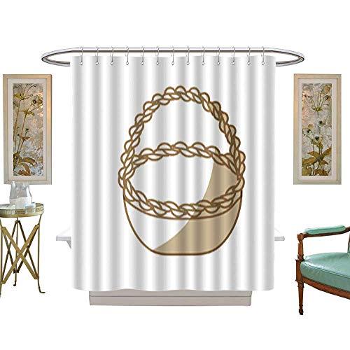 Iuvolux Shower Curtains Waterproofsilhouette Beautiful Hamper to Save Food Celebration. Fabric Bathroom Decor Set with Hooks W72 x H78 ()