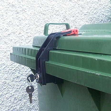 SSI Schäfer, bloccaggio per bidone della spazzatura, 60-360litri, monochiave Nero MTV-60-360-GS