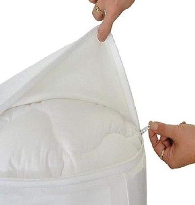 ... bolsillo profundidad blanco sólido estilo de carcasa transpirable impermeable Membrana SafeRest Premium, rizo, Blanco, Euro Ikea King: Amazon.es: Hogar