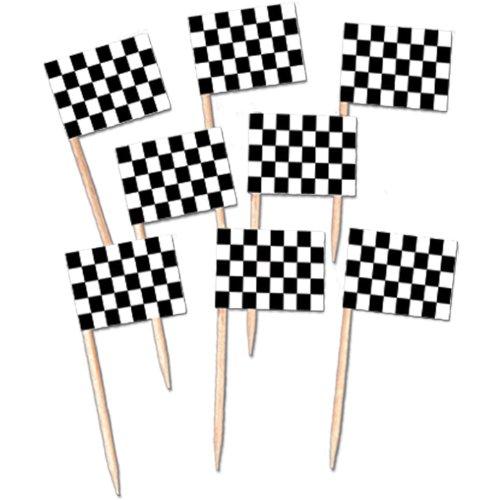 : Levado 60104 50-Pack Checkered Flag Picks, 21/2-Inch