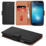 Galaxy S4 Case, Aicoco Flip Cover Leather, Phone Wallet Case for Samsung Galaxy S4 - Black