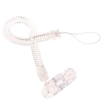 A0127 - Cadena con clip para chupete de bebé y niña, correa W ...