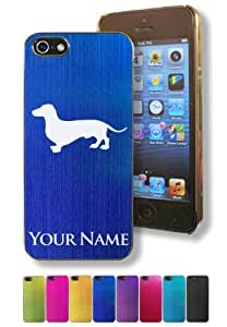 Apple Iphone 5/5S Case/Cover - DACHSHUND / WIENER DOG - Personalized for FREE (Click the CONTACT SELLER button after purchase and send a message with your case color and engraving request)