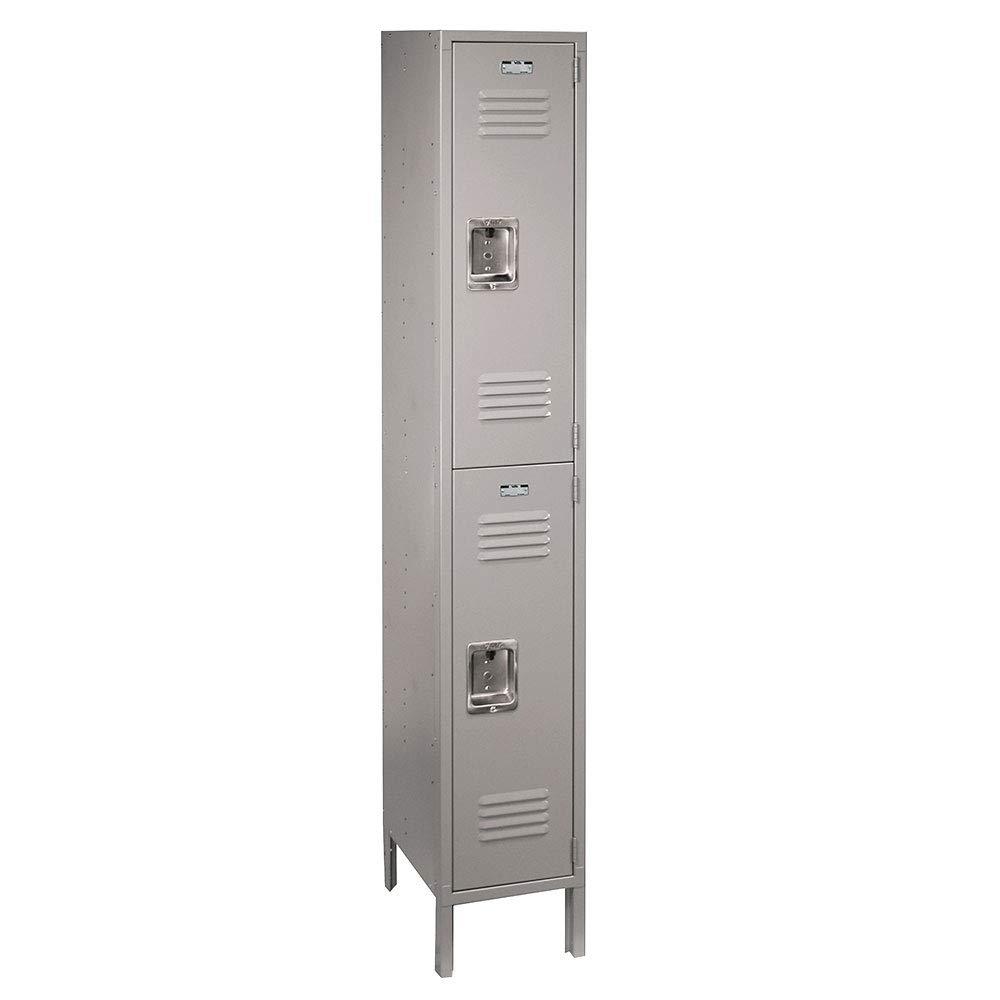 ValTec Metal Locker by Lyon Assembled DDVT52041SU Double Tier 12-Inch Wide, 12-Inch Deep, 6-Feet High, Dove Gray