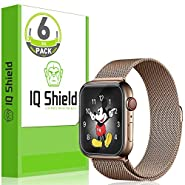 IQShield Apple Watch Series 4 Screen Protector (40mm)[Easy Install](6-Pack), LiQuidSkin Screen Protector for Apple Watch Series 4 (40mm) HD Clear Anti-Bubble Film