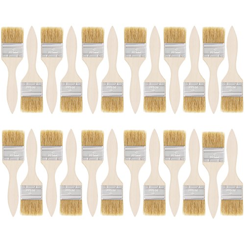 Varnish Paint Brush (US Art Supply 24 Pack of 2 inch Paint and Chip Paint Brushes for Paint, Stains, Varnishes, Glues, and Gesso)
